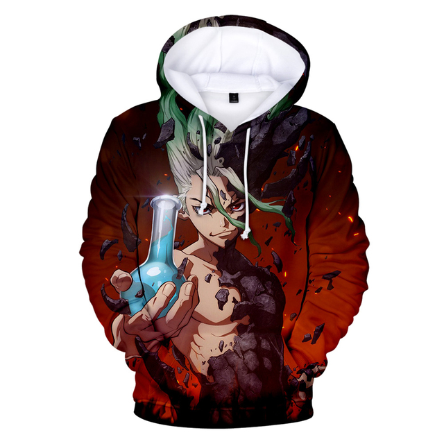 DR DR STONE THEMED HOODIE (11 VARIAN)