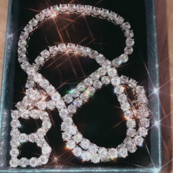 A-Z 5mm Tennis Chain Zircon Tennis Letters Necklaces & Pendant For Men/Women Gold Silver Color Fashion Hip Hop Jewelry 3