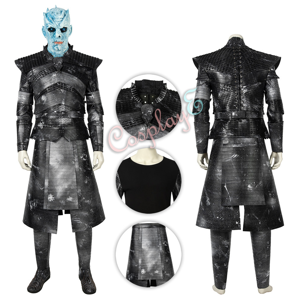 Night King Costume Game of Thrones Season 8 Cosplay Deluxe Version Full Set image
