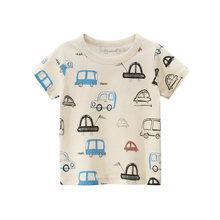 Новая детская хлопковая футболка с короткими рукавами и принтом