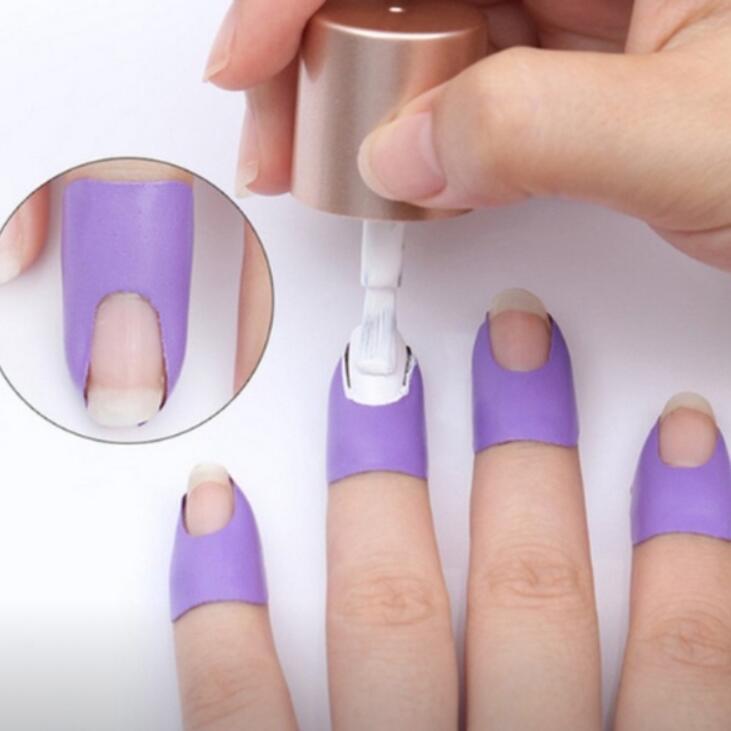 Nail Polish Anti-Spill Anti-Flow Edge Nail Stickers Nail Extension Template Clip Manicure Tools Set Full Nail Wrap Nail Art Tool