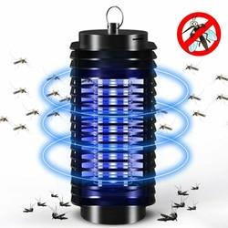 Уличный светодиодный светильник от комаров, электрическая противомоскитная ловушка, ловушка для насекомых, Zapper для дома, европейская вилка...
