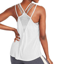 Kobieta T-shirt dla odzież sportowa Fitness kobiety siłownia koszulka sportowa Top do jogi zbiornika bez pleców koszulki treningowe odzież sportowa dla kobiet tanie tanio ISHOWTIENDA WOMEN summer COTTON Pasuje prawda na wymiar weź swój normalny rozmiar