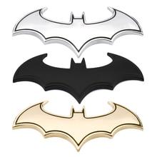 Наклейки на авто 3D наклейки холодный металл bat авто логотип автомобиля укладки Металл Бэтмен знак герба Хвост Наклейка мотоцикл автомобильные аксессуары автомобили