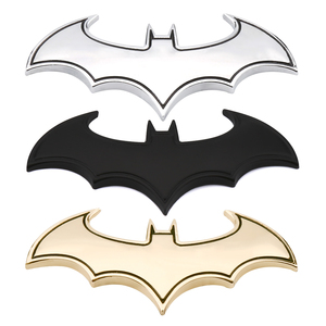 3D Car Stickers Cool Metal Bat Auto Logo Car Styling Metal Batman Badge Emblem Tail Decal Motorcycle Car Accessories Automobiles(China)