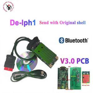 DHL 10 шт./лот VD DS150E CDP vd tcs cdp V3.0 PCB реле с bluetooth для автомобилей/грузовиков obd2 диагностический инструмент с оболочкой