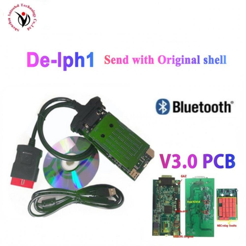 DHL 10 sztuk/partia VD DS150E CDP vd tcs cdp V3.0 PCB przekaźniki z bluetooth dla delphis samochody/ciężarówki obd2 narzędzie diagnostyczne z powłoki
