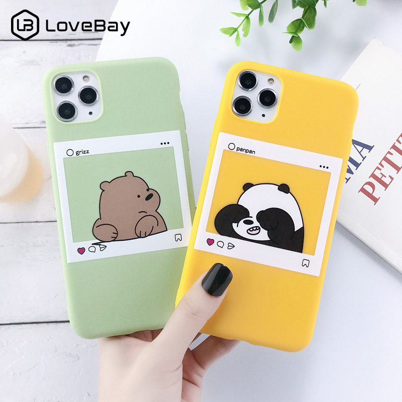 Lovebay For iPhone 11 Case Cute Animals Bear For iPhone 7 8 6 6s Plus X XR XS Max 11 title=