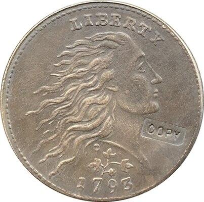 Wholesale 1793 WREATH LEAF CENT COINS COPY 100% Coper Manufacturing