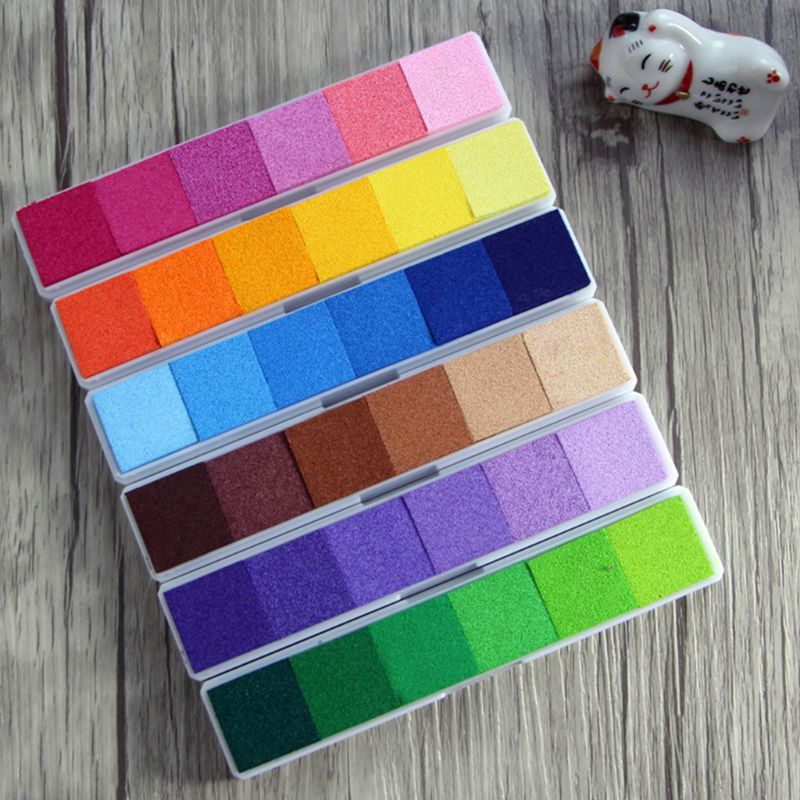 Non Toxic Water-based Gradient Color Inkpad Ink Pad DIY Crafts Finger Print Digital Printing Scrapbooking Stamps Decorative