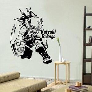 My Hero academic-Katsuki Bakugo   Наклейка на стену, Виниловая наклейка на окно, аниме Настенный декор для детской комнаты подарок на день рождения мальчик...