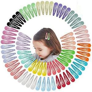 Image 1 - 5cm לערבב מוצק צבע מתכת Hairgrip בנות הצמד שיער קליפים לילדים בייבי שיער אביזרי נשים סיכות קליפ סיכות BCC05