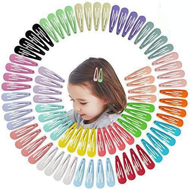 5cm לערבב מוצק צבע מתכת Hairgrip בנות הצמד שיער קליפים לילדים בייבי שיער אביזרי נשים סיכות קליפ סיכות BCC05