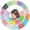 5cm Mix Solid Color Metal Hairgrip Girls Snap Hair Clips for Children Baby Hair Accessories Women Barrettes Clip Pins BCC05
