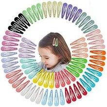 5cm mix cor sólida metal hairgrip meninas snap grampos de cabelo para crianças acessórios para o cabelo do bebê