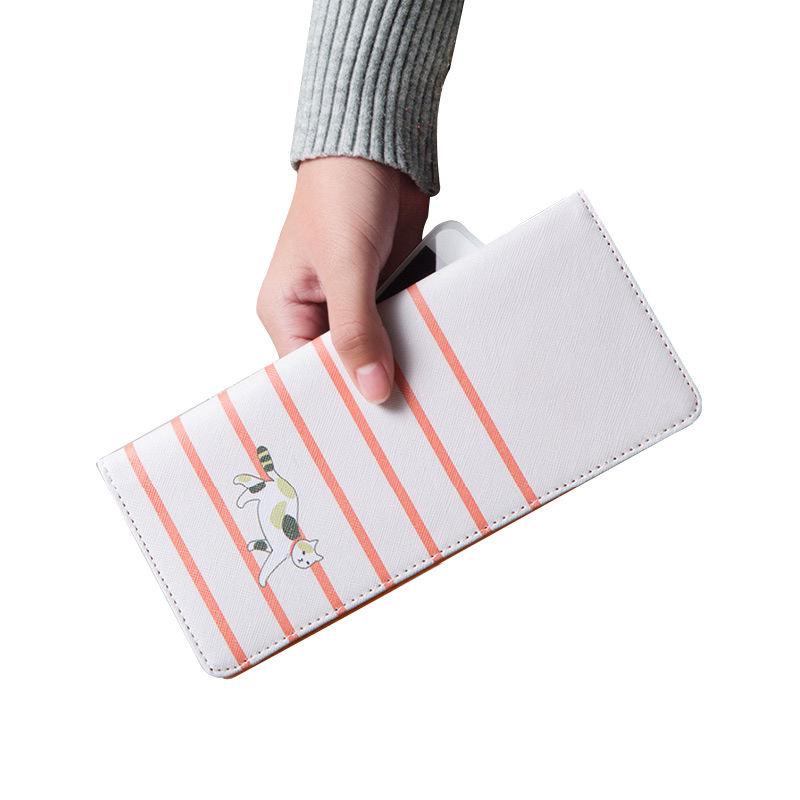 Korea Long Rfid Wallet Tickets Travel Documents Couple Business Passport Covers Bag Women Travel Cards Holder Purse Case For Men
