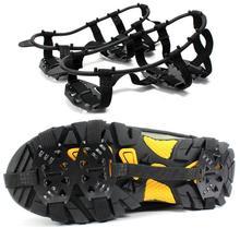 Горячая зубы кошки покрытие обуви сильный 24 зубы открытый лед снег обуви шипами сцепление шипы скобы Нескользящие бахилы