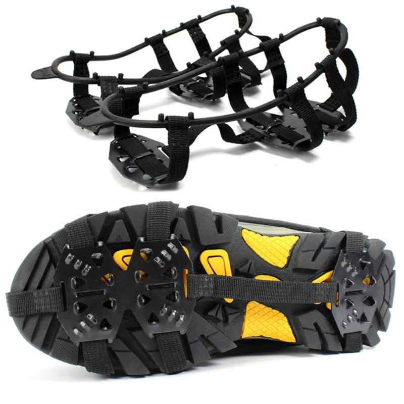 Hiking Teeth Crampons Shoe Cover Strong 24 Teeth Outdoor Ice Snow Shoe Spiked Grip Cleat Crampons Anti Slip Shoe Cover