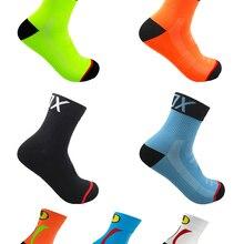 Модные велосипедные носки, 24 цвета, брендовые велосипедные носки для мужчин и женщин, профессиональные дышащие спортивные носки, баскетбол...