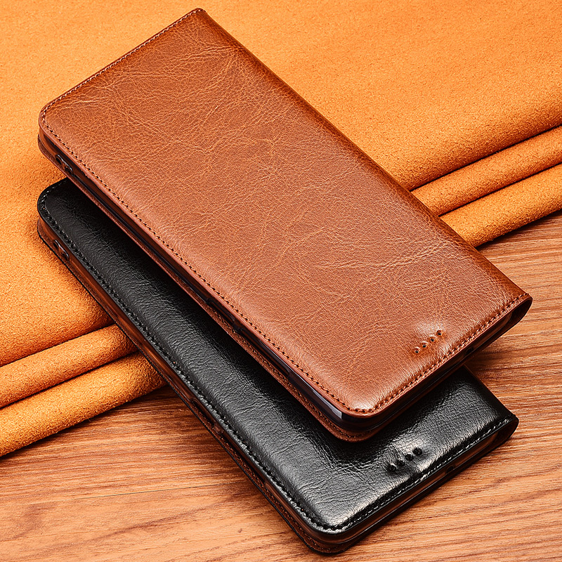 Genuine Cow Leather <font><b>Case</b></font> For <font><b>Samsung</b></font> Galaxy Note 10 9 8 5 4 3 Note10 <font><b>Note8</b></font> Note9 Pro Plus Magnetic <font><b>Case</b></font> Stand Flip Phone Cover image