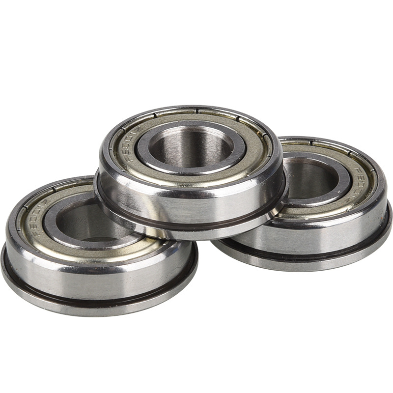 5Pcs F6001 Bearing Miniature Deep Groove Ball 12 * 28 * 8 Flange Bearing Super Long Idling Wear-resistant Silent