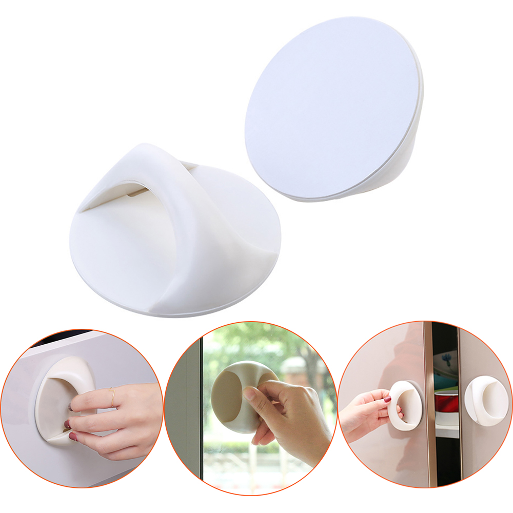 Self-Adhesive Safety Door Handle Cabinet Knobs Furniture Handles Pull Kitchen Bathrooms Home Windows Cupboard Drawer Accessory