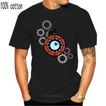 Mechaniczna pomarańczowa biała, wykonana na zamówienie koszulka T-shirt nowość fajne topy męska koszulka z krótkim rękawem