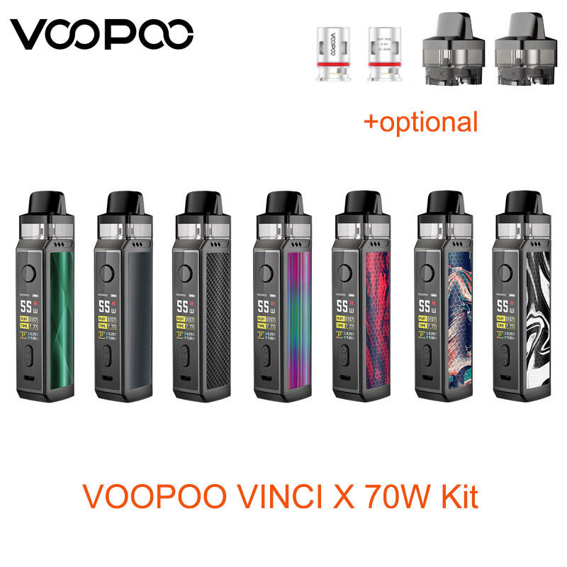 Original VOOPOO VINCI X 70W Kit Powered By Single 18650 Battery With Max 70W Output Electronic Cigarette Vape Kit