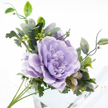 10 bundles Artificial flowers Peony bouquet Home decoration accessorie Wedding Holiday