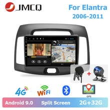 JMCQ 9 Car Radio Android 9.0 For Hyundai Elantra 2006-2011 Split Screen Multimedia Video Players Stereos 2 Din android players jmcq 9 car radio 2 din android 9 0 player for kia sportage 2016 2018 multimedia video players stereos split screen with canbus
