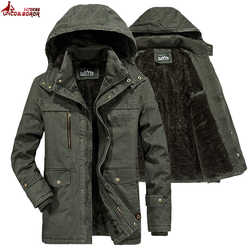 Brand Winter Military jacket Men Windbreaker wool Liner Overcoat Jaqueta Masculina Men's Fur Hooded snow   parka   Coat men clothing