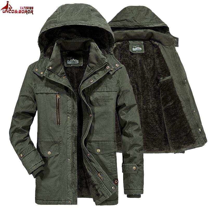 Brand Winter Military Jacket Men Windbreaker Wool Liner Overcoat Jaqueta Masculina Men's Fur Hooded Snow Parka Coat Men Clothing