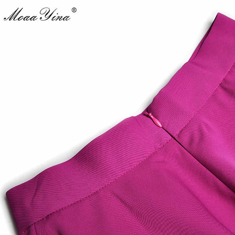 MoaaYina ファッションデザイナースーツ春夏女性ランタントップス + 非対称スカート 2 点セット