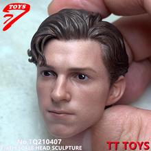 Pre Verkauf Wenig spinne TTTOYS 1/6 Tom Holland Kopf Carving TQ210407 Fit 12'' Männliche Figur Körper