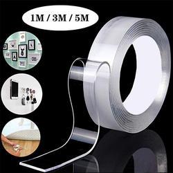 Обустройство дома двусторонний скотч Nano прозрачной никаких следов акрил Magic Tape повторного использования Водонепроницаемый клейкая лента