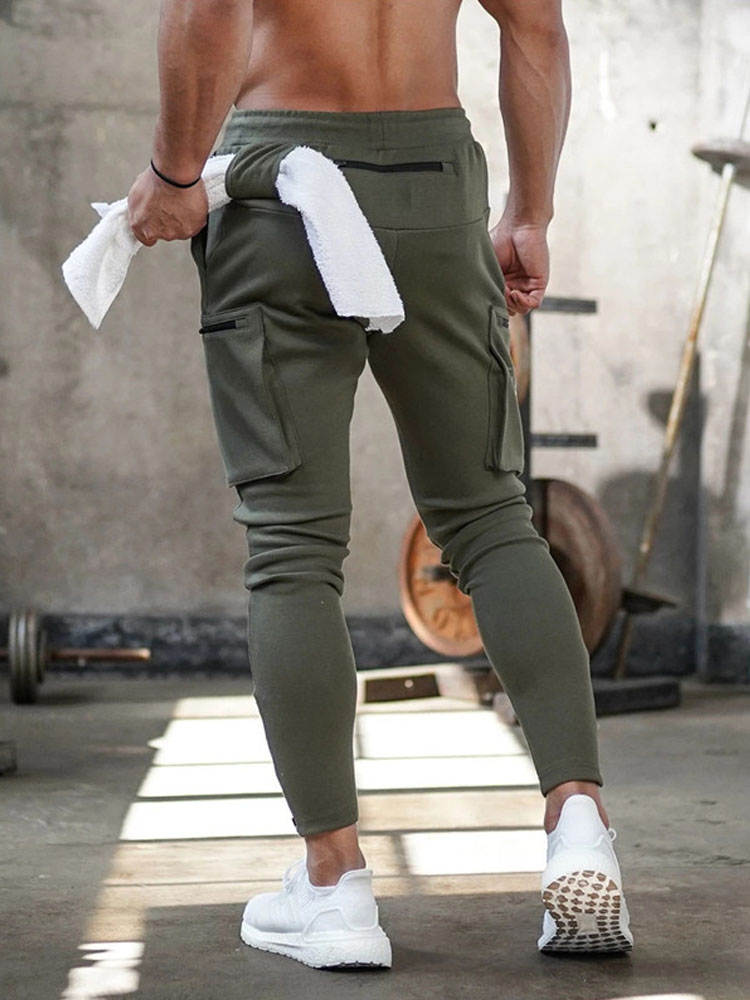 Casual Pants Tracksuit Trousers Sportswear Jogger Cargo Bottoms Fitness Men's Skinny