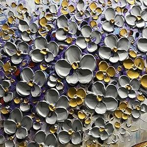 Image 4 - Handgemalte Messer Gold Baum Ölgemälde Auf Leinwand Große Palette 3D Gemälde Für Wohnzimmer Moderne Abstrakte Wand Kunst bilder
