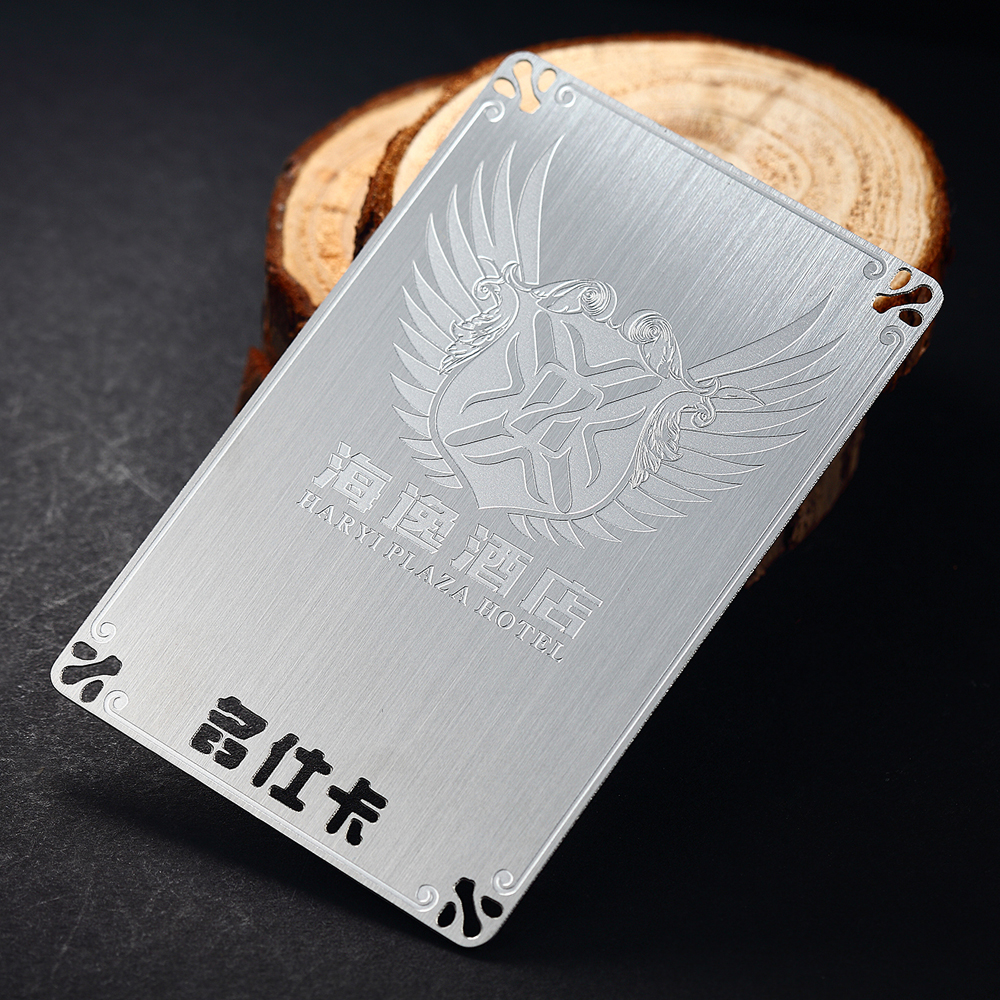 Stainless Steel Business Card Metal Brushed Card Custom Stainless Steel Brushed Membership Card Design Metal Business Card