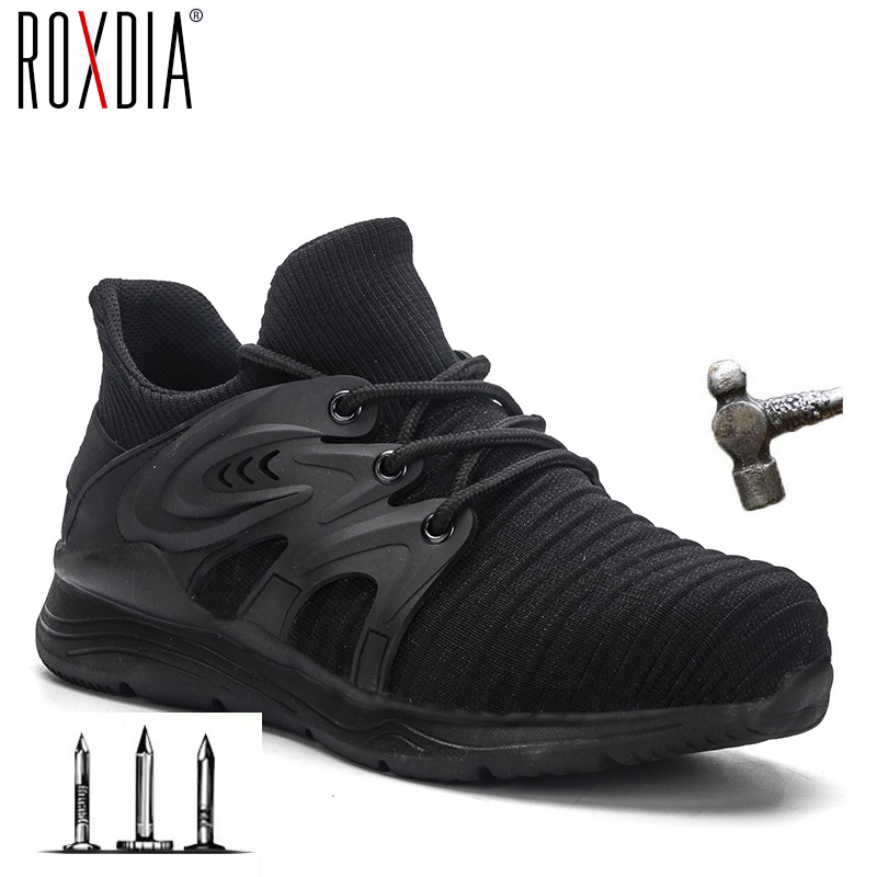 2020 New Sneakers Steel Toe Cap Work  Women Boots Men Safety Shoes Breathable Outdoor Shoe ROXDIA Brand RXM170  Plus Size 37-48