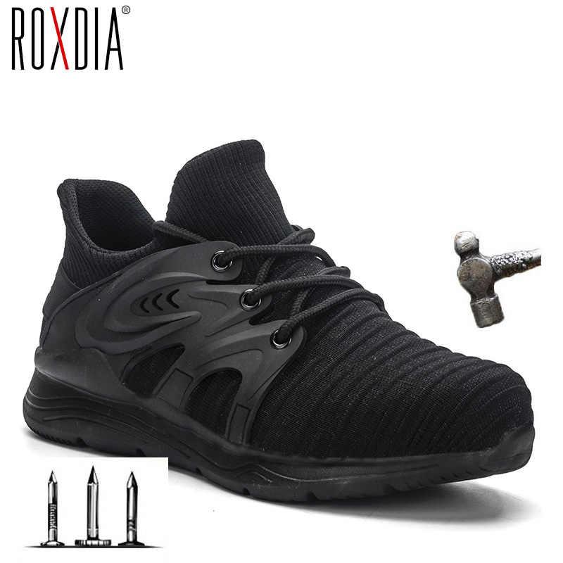 2020 yeni sneakers çelik burun iş kadın botları erkekler güvenlik ayakkabıları nefes açık ayakkabı ROXDIA marka RXM170 artı boyutu 37- 48