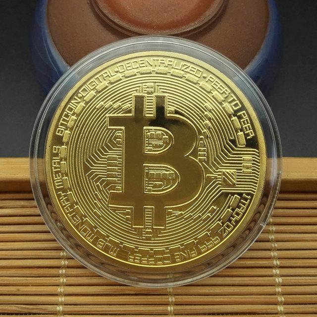 1PCS Creativo Souvenir Placcato Oro Bitcoin Moneta Da Collezione Grande Regalo Moneta Po 'Collezione D'arte Fisica Oro Moneta Commemorativa 6
