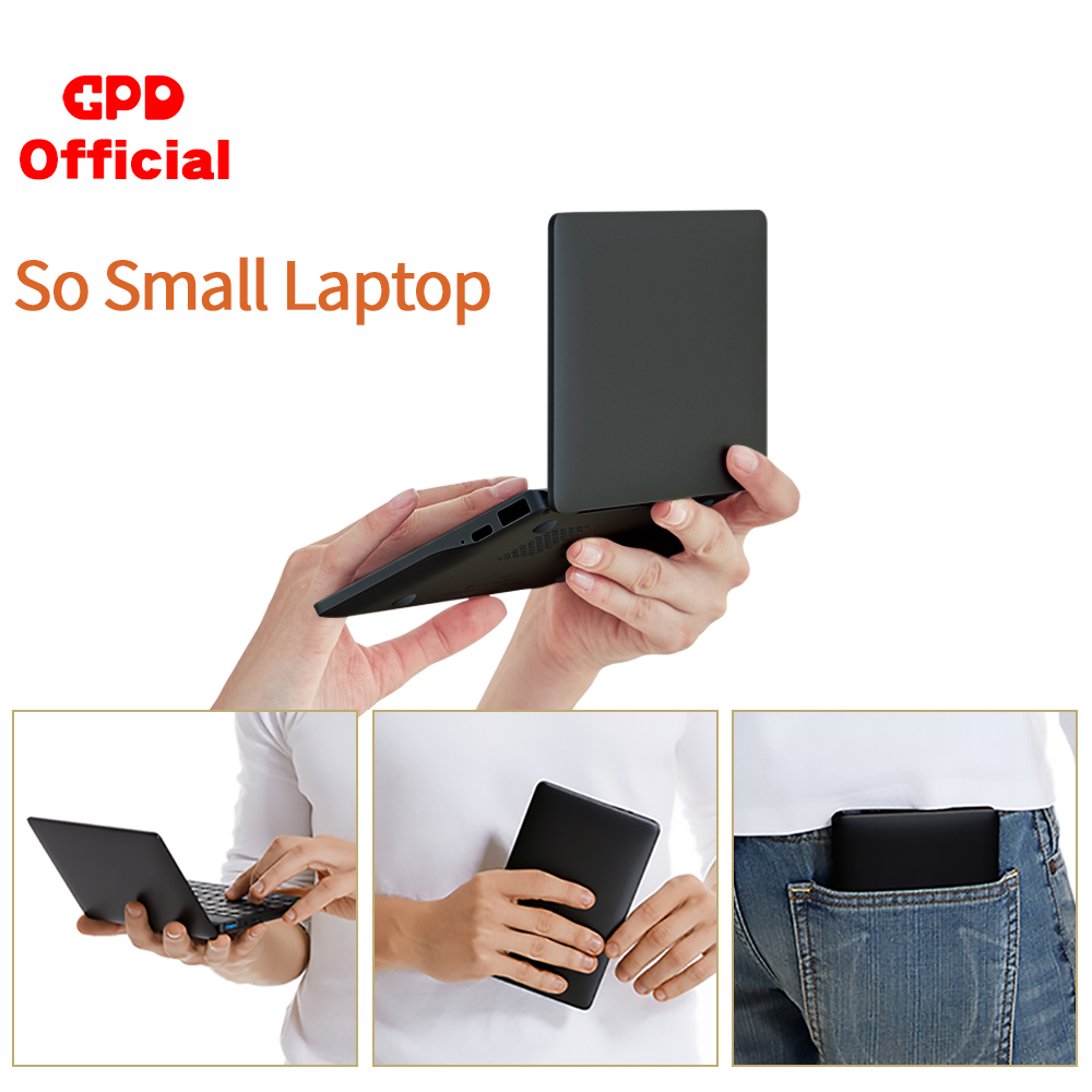 New GPD Pocket 2 Pocket2 8GB 256GB 7 Inch Touch Screen Mini PC Pocket Laptop Notebook CPU Intel Celeron 3965Y Windows 10