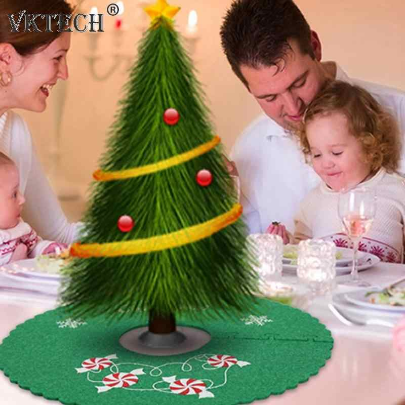 Christmas Tree Skirt Ruffle Edge Xmas Tree Foot Cover Carpet New Year Christmas Decorations for Home Navidad Tree Skirt