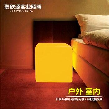 40*40*40CM LED cube chair mood garden cube sofa luminous colors LED chair in stock