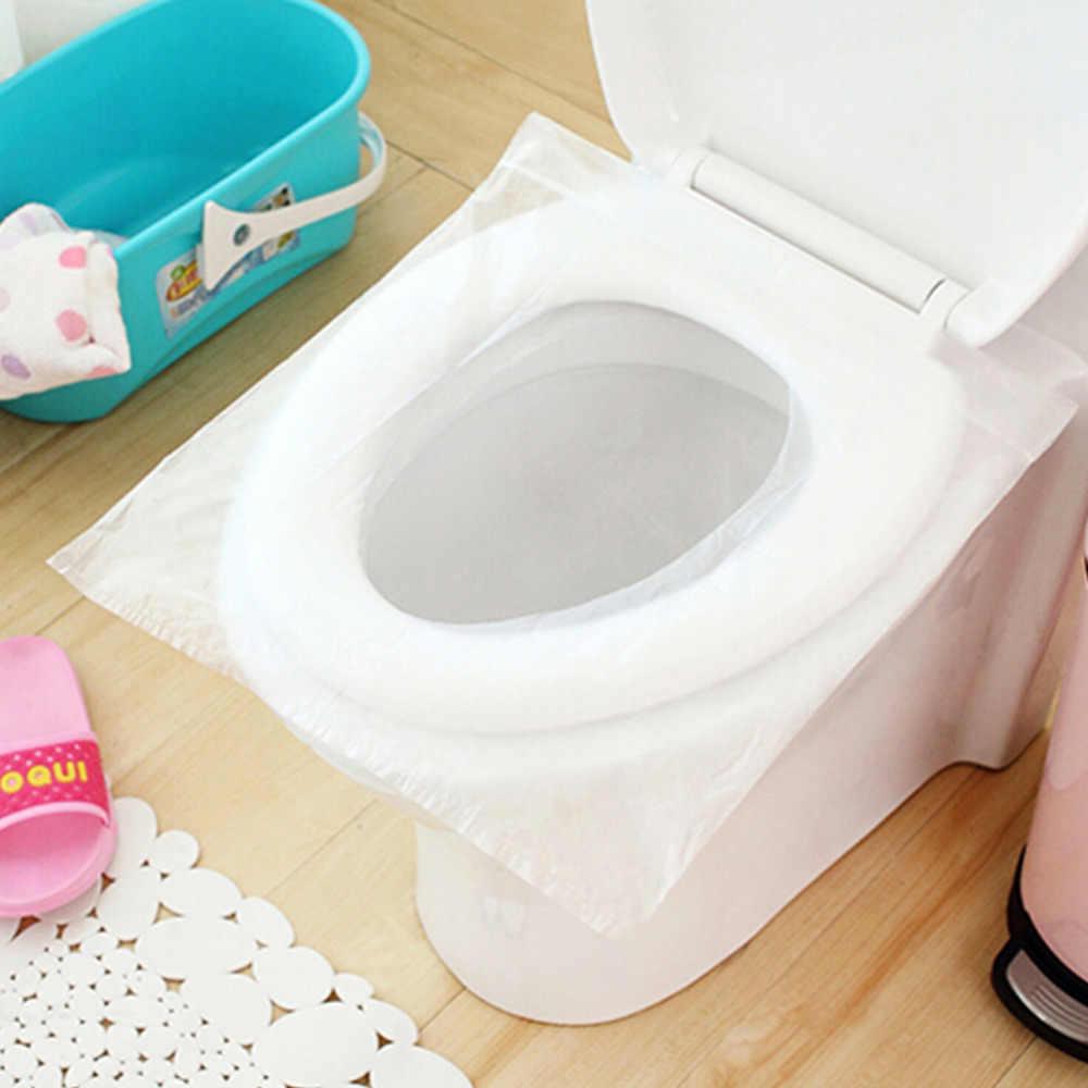 Nowy 10 sztuk/paczka jednorazowe wodoodporne deska klozetowa pokrywa mata zdrowe wodoodporny papier toaletowy Pad domu łazienka akcesoria