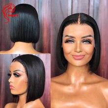 Human-Hair-Wigs Hesperis Lace Wigs Short Pre-Plucked Black-Women Brazilian Bob with Baby