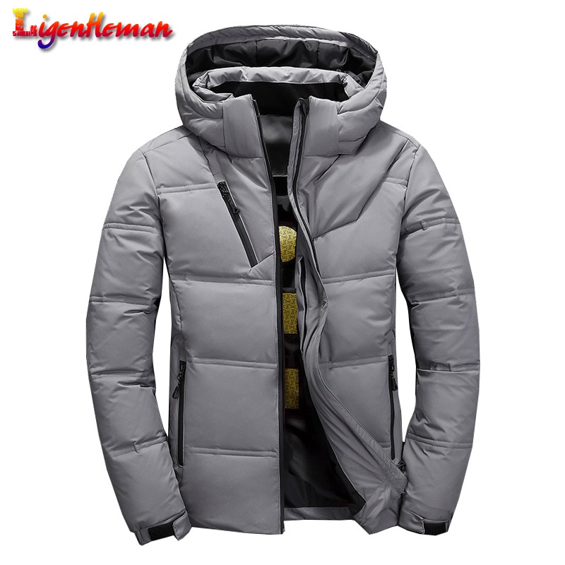 Men Casual Hooded Jackets Male New 2019 Slim Short Jacket Men Zipper Jacket Mens Winter High Quality Thermal Thick Coat