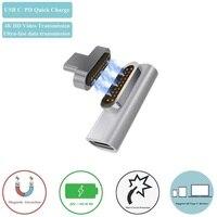 마그네틱 USB C 어댑터  PD 충전기 및 데이터 전송 지원 (10Gbp/s)  USB3.1 Type-C 전원 공급 장치  MBP 100 용 16 13 W L 팁