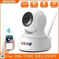 BESDER 1080P telecamera IP di sicurezza domestica Audio bidirezionale Mini telecamera Wireless visione notturna CCTV WiFi telecamera Cloud Storage Baby Monitor