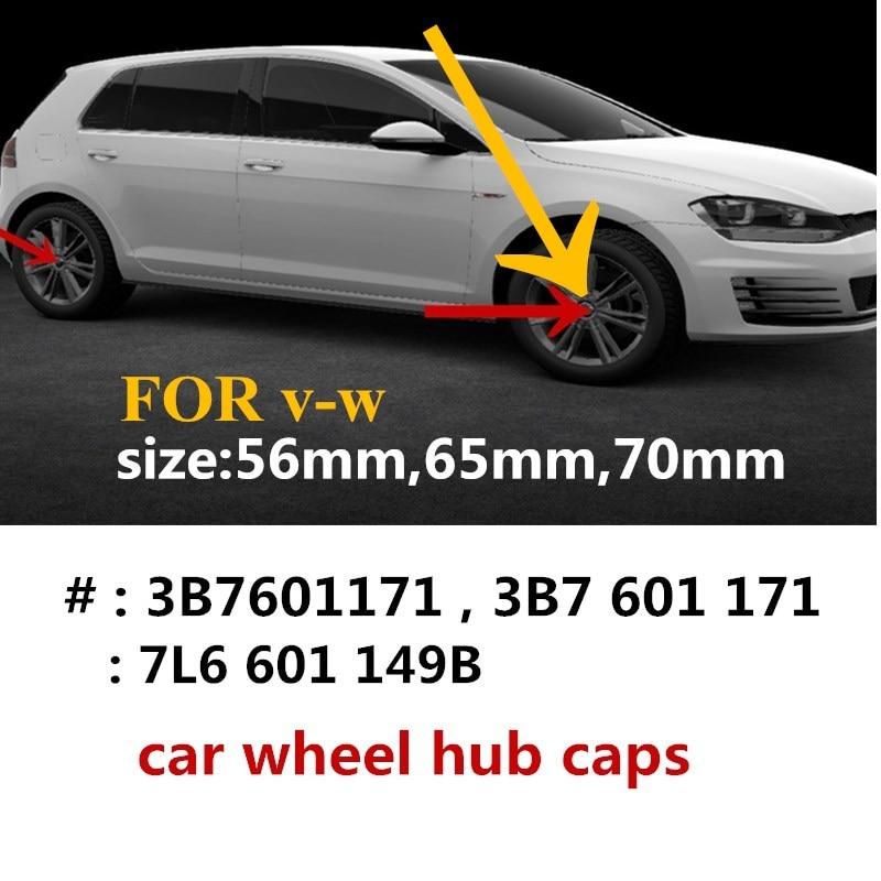 4 шт, 65 мм, 56 мм 70 мм центральный колпак на колесо автомобиля концентратор Шапки значок для крышки эмблема для 3B7601171 1J0601171 7L6601149B стайлинга авто...